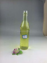 200ml clear and round glass wine bottle with aluminum cap