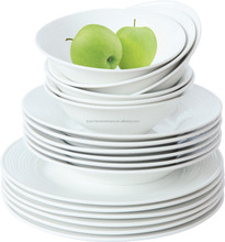 18PCS high grade ceramic/porcelain embossed dinner set