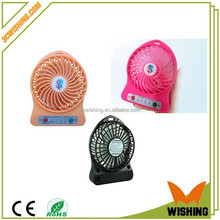 mini USB Attractive Portable Mini Battery 18650 Desk Cool Cooler Fan with Rechargeable