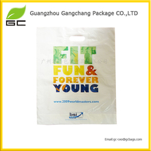 Customized & printed plastic die cut bag for shopping