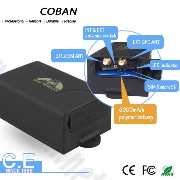 Recarregável grande recipiente da bateria sistema de rastreamento GPS com posição ao vivo, recipiente gps rastreador do carro com sensor de vibração