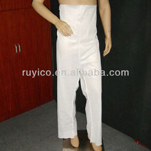 Disposable nonwoven PP Trousers white open toe CE ISO certificate RuYi 1W01 for hospial