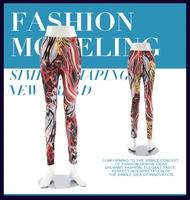 2015 Fashion brand name wholesale print custom sublimation leggings