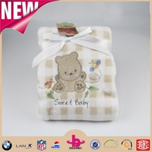Good quality super soft baby receiving baby blanket/ animal printed baby blanket/ super soft flannel baby blanket