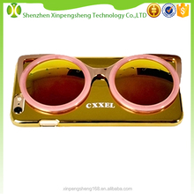 New coming plastic case with sunglasses and logo for iphone 6