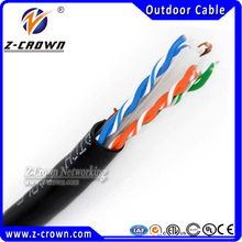 UTP Outdoor Cable 1000FT Black Cat6 Direct Burial