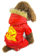 Pet Dog the Arctic Ocean Red Skiing Clothes