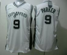 Spurs 9 Tony Parker basketball Jersey,brand basketball jersey