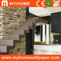 interior decorative brick design natural stone 3d effect 3d wallpaper for walls