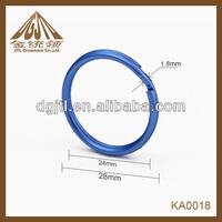 Fashion high quality 28mm color round rings key