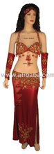 Sexy Wine Red Belly Dance Dress