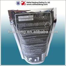 custom plastic food ziplock bag for rice cracker packaging with window