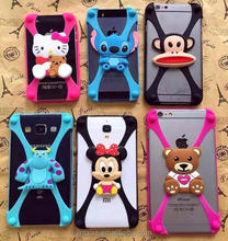 Hot sale silicone universal phone case with cute cartoon phone cases