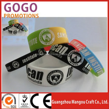 100% safe material & fine quality rubber silicone bracelets with sayings / silicone rubber bracelets, promotional silicone band