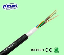 24 core fiber optic cable GYTA for aerial and duct laying methods