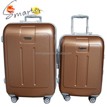 Gold Hardside ABS Travel Luggage Suitcase With Good Quality