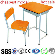 Cheap Wooden Single Student Desk and Chairs for School Furniture On Sale