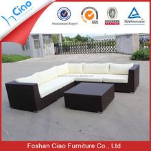 Pe rattan mobiliário l forma conjunto de sofá sofá tamanho grande