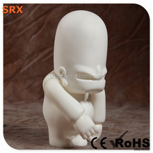Halloween blank man pvc vinyl toy, DIY white pop vinyl hot toys for kid, OEM non-toxic blank vinyl figures China manufacturer