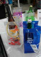 Summer hottest printed pvc wine bottle ice bag