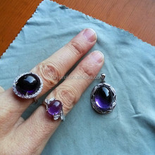 new arrival jewelry 2015 sterling silver mens rings with amethyst