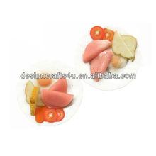 Mini Food 2 Mixed Breakfast White Ceramic Plate Decor