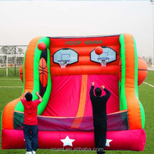 inflatable double basketball for interactive game