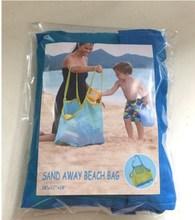 Fashion kids beach bag / mesh beach bag with pocket / toy storage beach bag