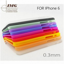 0.3mm Ultra slim PP back cover for iphone 6 , for iphone 6 phone case customization welcome