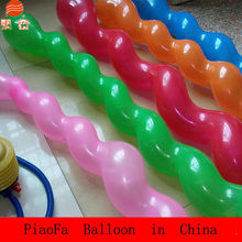 Opening ceremony wedding decoration screw shaped balloons