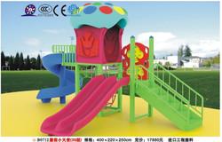 B0712 large Hotsale Children Outdoor Plastic Playground Set kid plastic playground double slide house