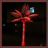 Artificial cocount Palm Tree/Good quality Coconut led tree lighting decorated trunk 4m china supplier zhongshan