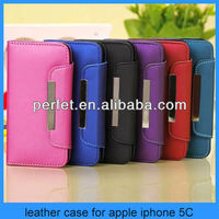 Magnetic Luxury Flip Wallet Pouch PU Leather Case Cover for Apple iPhone 5C Lite