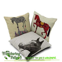 2015 Natural and cartoon Style Printing Horse Cushion Cove Animal Throw Pillow Case Home Decoration Gift