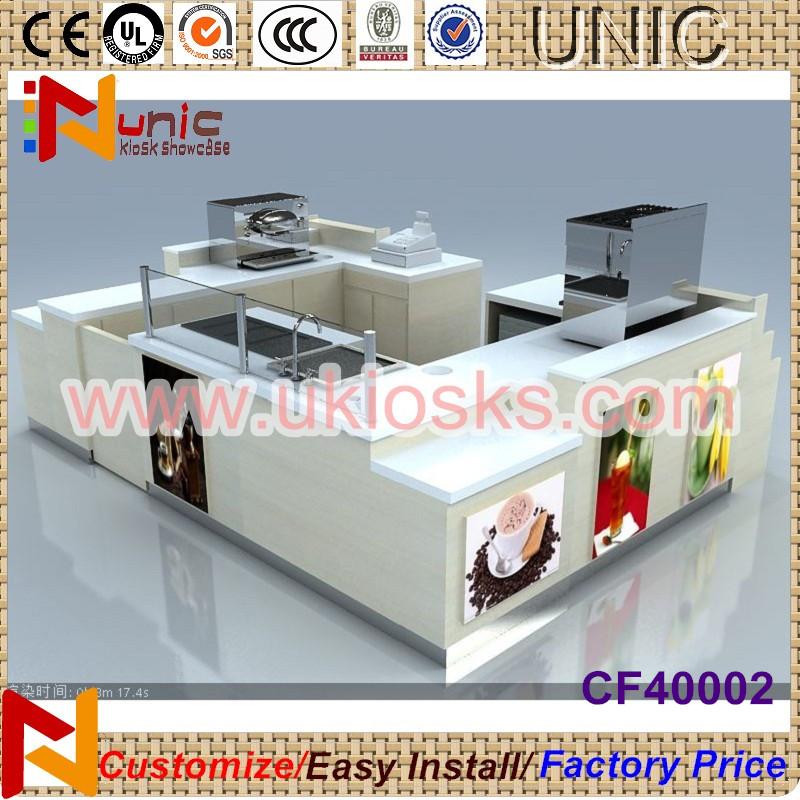 4x3m mall food kiosk design indoor fast food kiosk for for Indoor food kiosk design