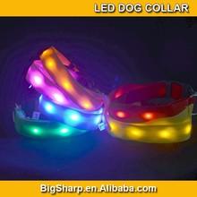 LED Nylon light lamp Pet Dog Collar Night Safety LED Light-up Flashing Glow in the Dark