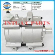 FS#57129 AC compressor FS10-6GR-114.3mm for Ford F-150/Lincoln Mark/Mercury Cougar E3AZ19V703AA 4718106 COMP BODY ONLY