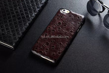 Customerized Skull pattern cover 100% genuine leather cell phone case for iphone 6