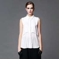 Summer Blouse Chiffon Clothing For Women Sleeveless shirts plus size