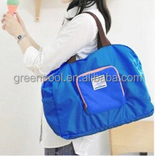 New trend nylon bag fancy folding shoulder polyester travel bag