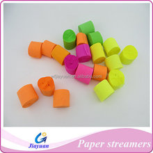 Chile market high quality party fluorescent colored crepe paper streamer