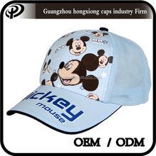 Children cap mesh kids mickey baseball cap