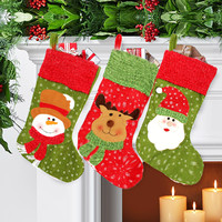The Best Quality The Best Price Christmas Santa Sack Candy Stocking Gift Father XMAS Present Filler Sock Hang