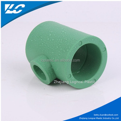 Green Colorful Pipe Fitting Reducing Tee Dimensions Plastic Tee OEM/PPR Fitting Reducing Socket
