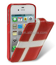 Newly design premium mobile phone shell,colored Leather case,compact case for Apple iPhone 4S