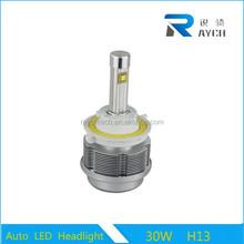 12v 30W 3600lm All in one H1 H3 H7 H8 H9 H11 H13 H4 9005 9006 led car headlight 2S
