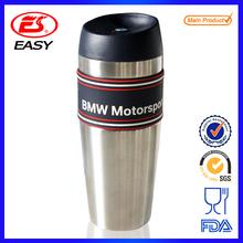 Wholesales FDA passed custom logo heat insulation drinking water bottle double wall stainless steel vacuum auto travel mug
