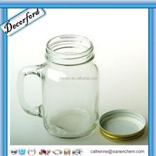 HOT Sale Clear Smooth Sided mason jar drinking glass