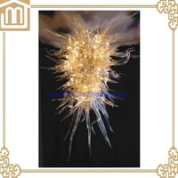 Hand blown white murano glass plastic colored chandeliers