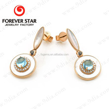 2015 Alibaba China Best Selling 9ct Simple Gold Earring Designs for Women